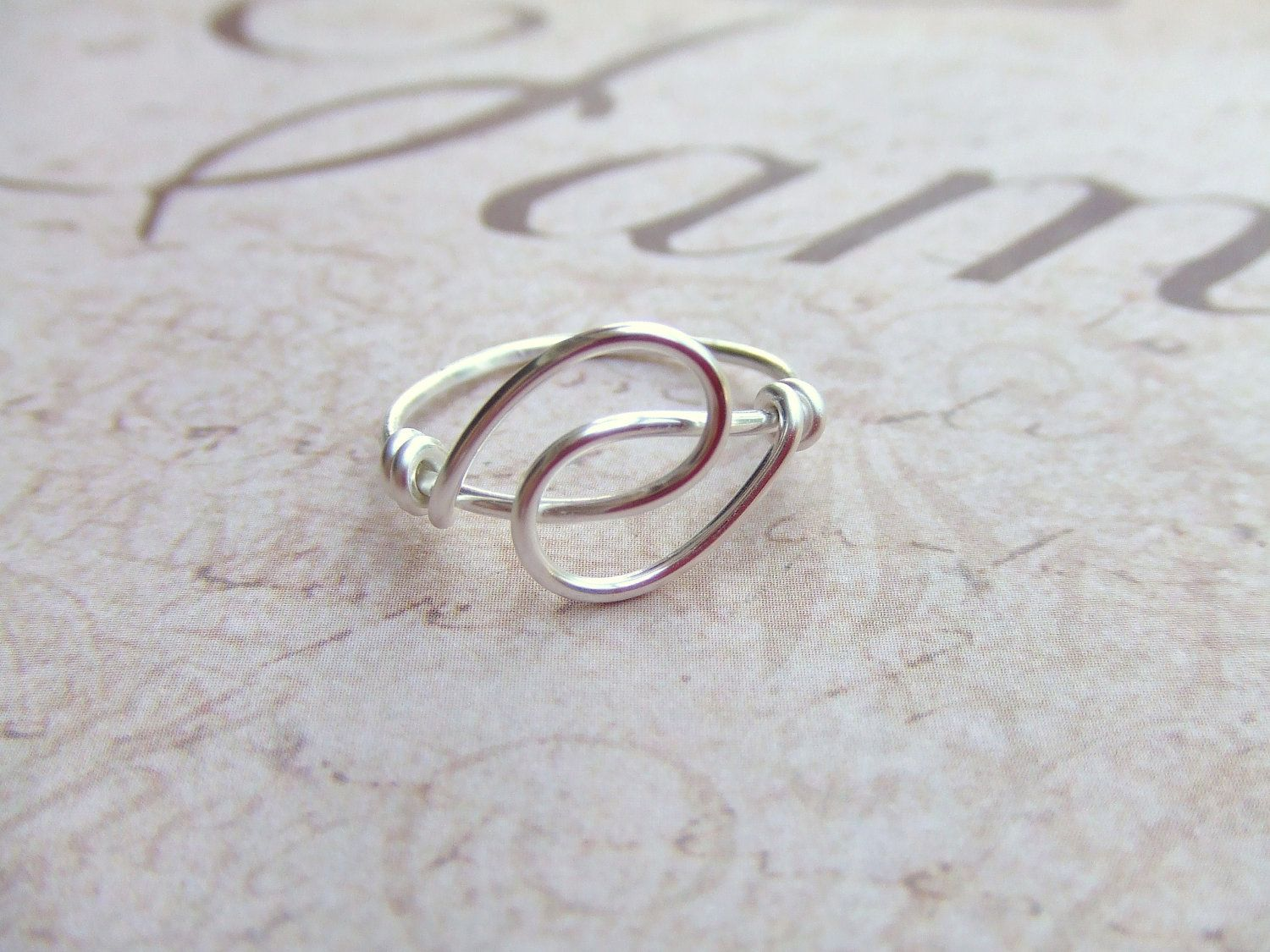 Holding Hands Friendship Ring Wire Wrapped Ring. | Wire Jewelries ...