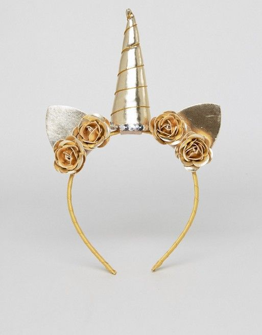 ASOS Metallic Unicorn Headband ec5146aebd4