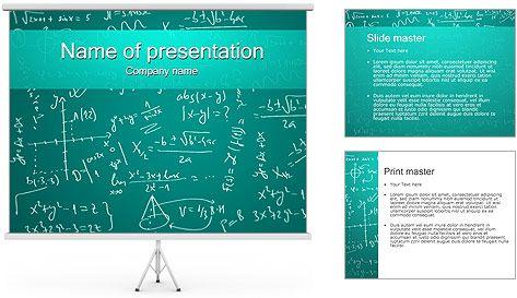Fórmulas Matemáticas Plantillas de Presentaciones PowerPoint ...