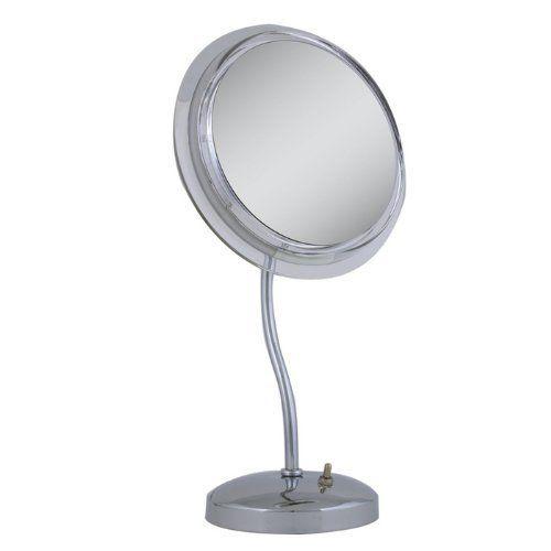 Zadro Surround Light S Neck Pedestal Chrome Vanity Mirror By Brookstone 109 99