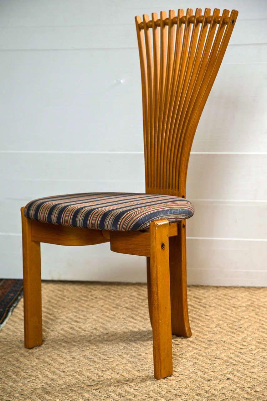 Set Of Six Polycraft Fan Back Side Chairs