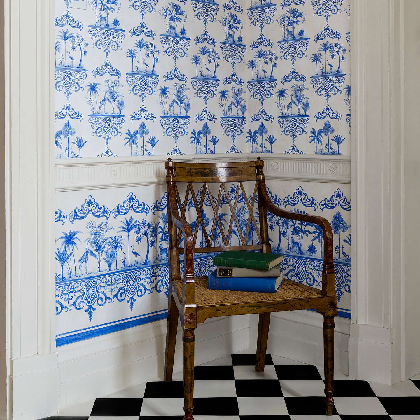 Cole & Son Rousseau Paste the Wall Wallpaper, Cobalt Blue