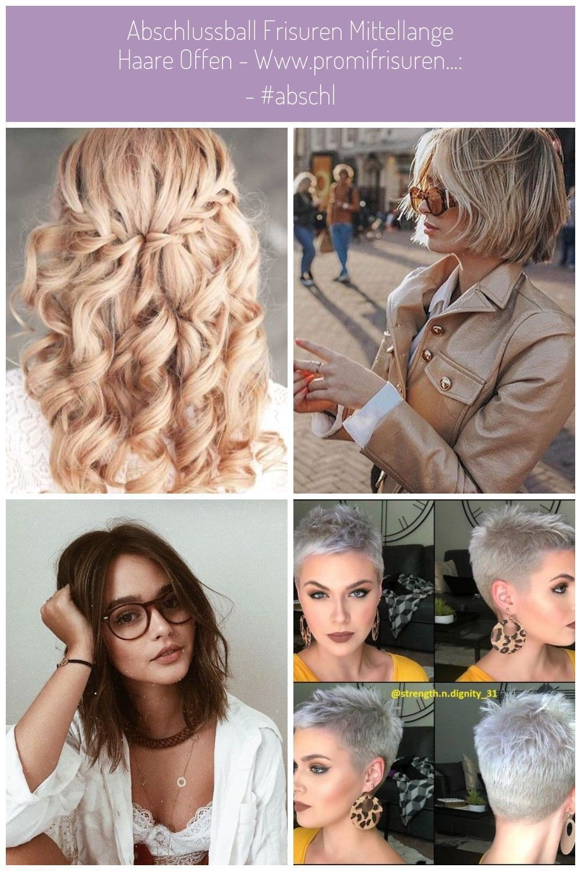 Haar Offen Haar Offen Abschlussball Frisuren Mittellange Haare
