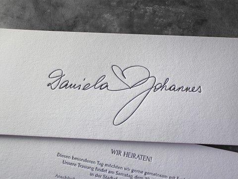 Hochzeitseinladung Hochzeit Einladung Buchdruck Letterpress Wien  Baumwollpapier Baumwollkarton Heidelberger Tiegel Kalligraphie  Außergewöhnlich Extravagant ...