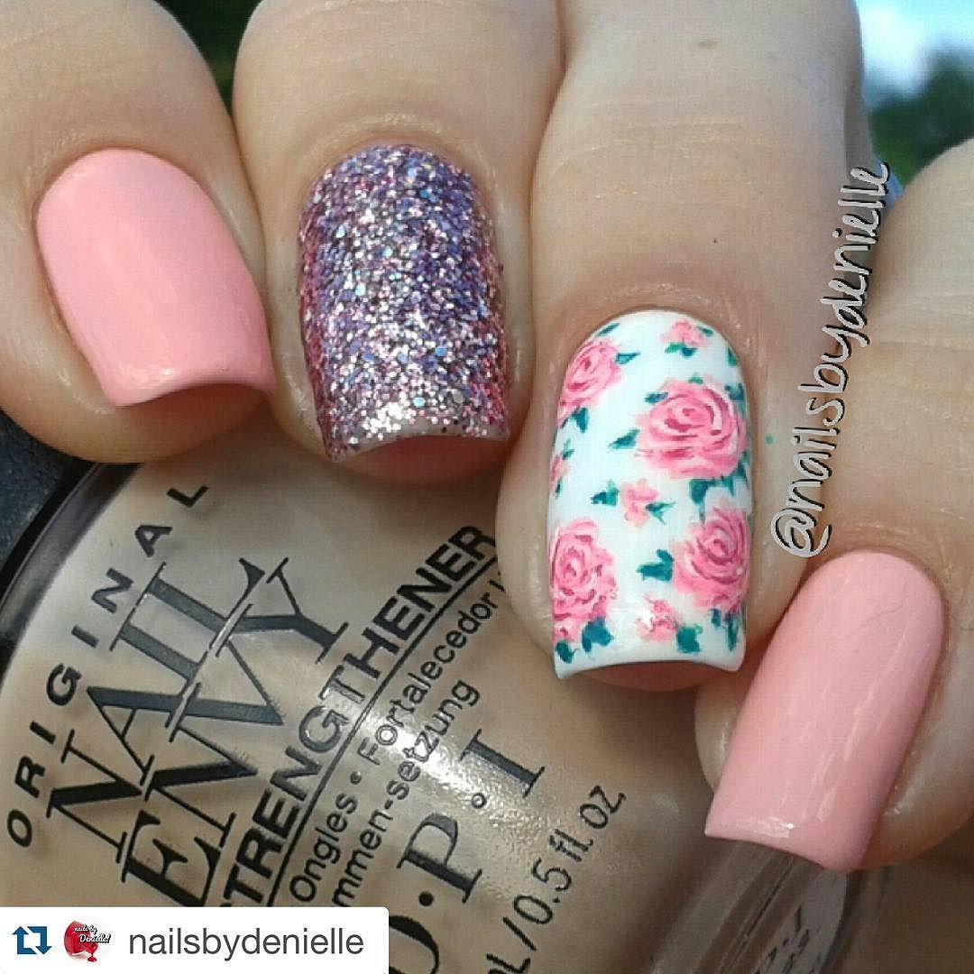 #Repost @nailsbydenielle with @repostapp.  Hey ho let's go I hope everyone is having a fan-freaking-tastic day thus far!  What a surprise... Florals! @wetnwildbeauty  @wetnwildcosmetic tickled pink @opi_products nail envy Samoan sand #nailartwow #nails2inspire #naturalnails #floralnails #floral #floralprint #flowernails #springnails #roses #rosenails #girlynails #prettynails #nailitdaily #hbbeautybar #featuremynails #feature_nailart #nailpromote #craftyfingers by nails_addicts_group