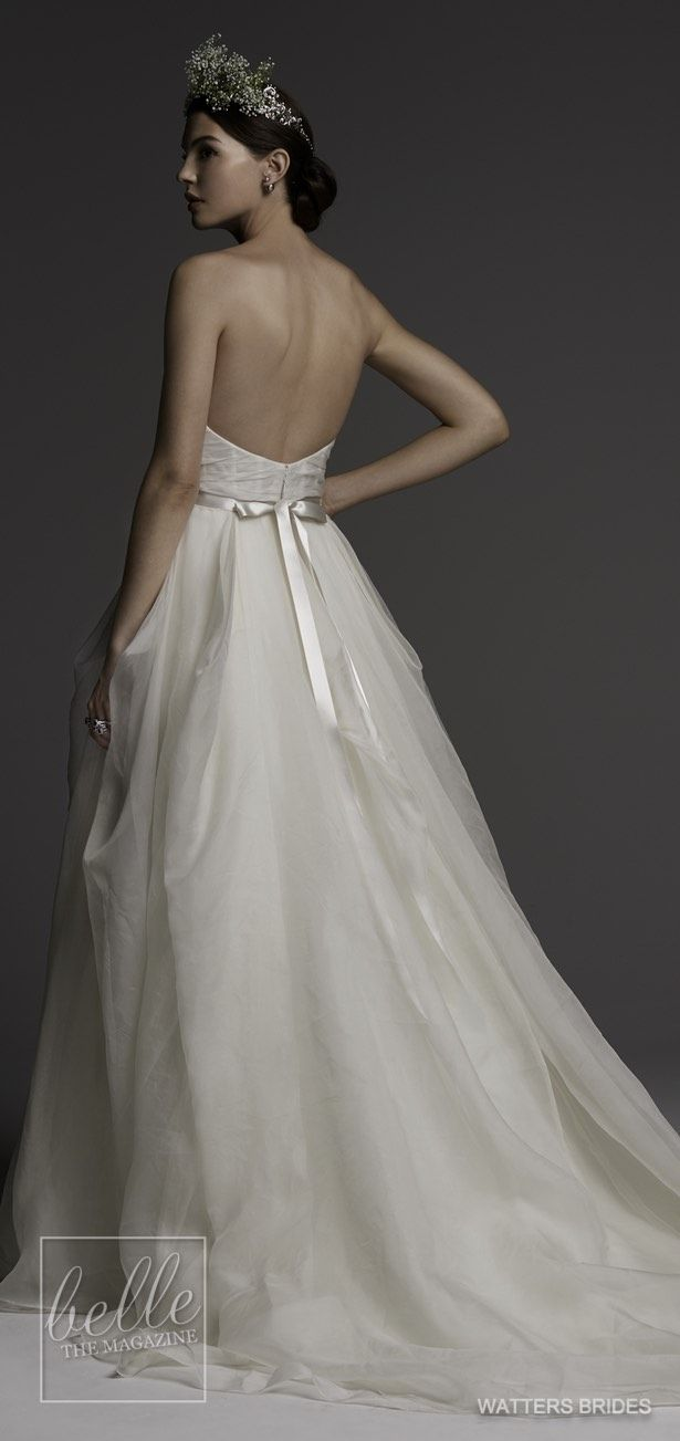 Wedding dresses by watters brides spring tulle skirts bridal