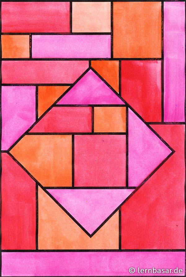Geometrische Formen, Ton in Ton - tolle Idee für Ihren ...