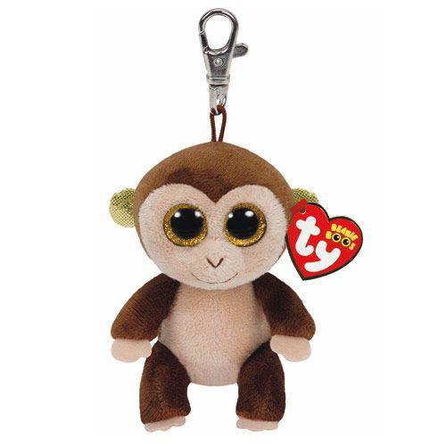 bcfc2432a3b TY Beanie Boos Audrey the Monkey Keyring Clip