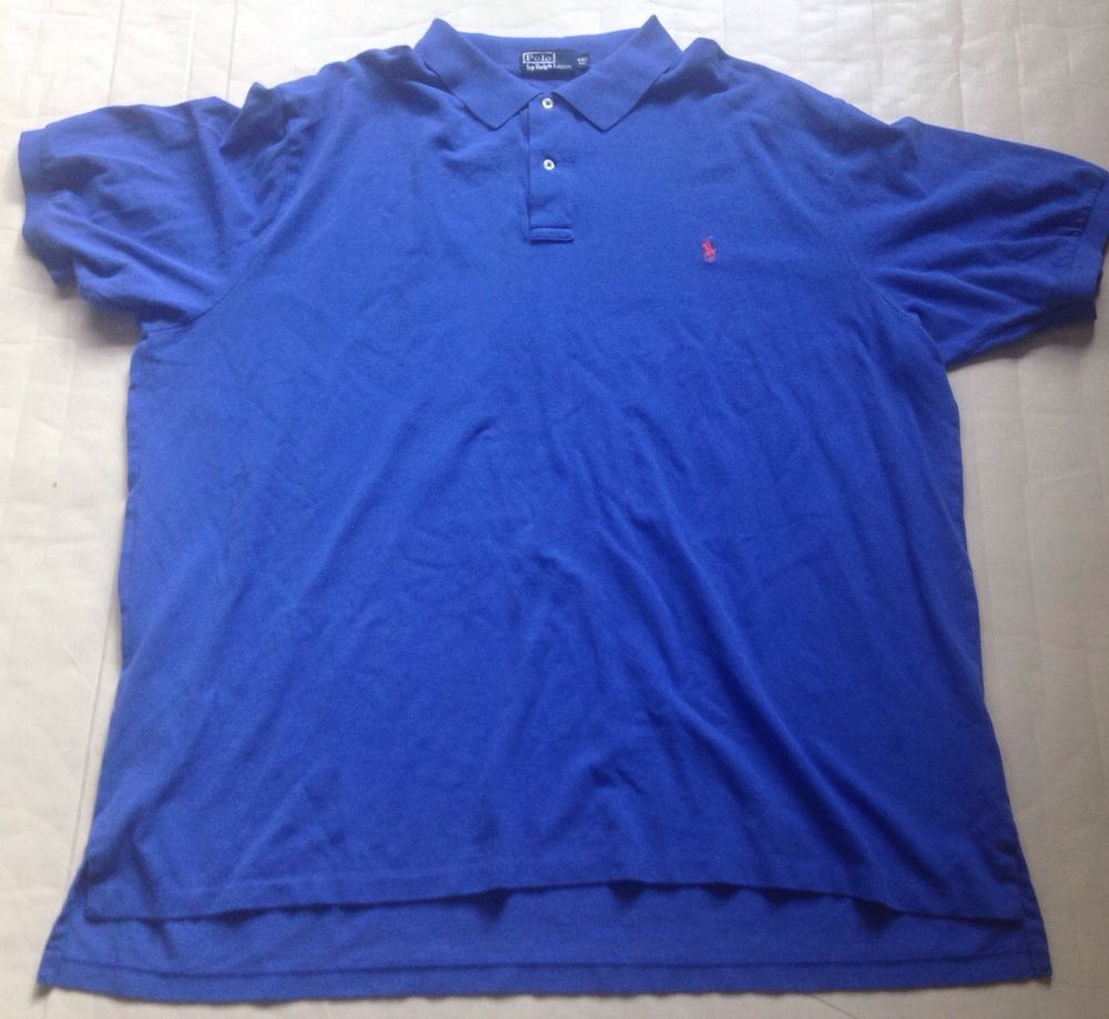 Forsale Mens Ralph Lauren Polo Shirt Sz 4xlt Extra Large Tall Solid