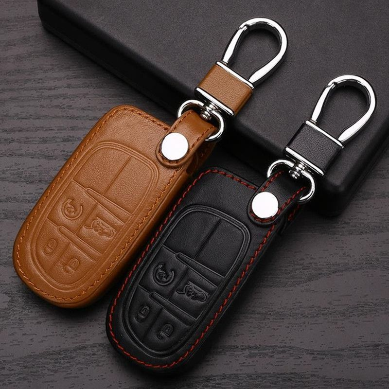 Car Key Fob Chain For Jeep Dodge Chrysler Keychain Ring Cover Holder Accessories