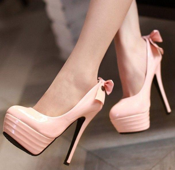 ENMAYER Fashion Women Pumps Sweet Bow Shoes 2014 Brand New Party Evening  Wedding Spike High Heels 084f133d51a0