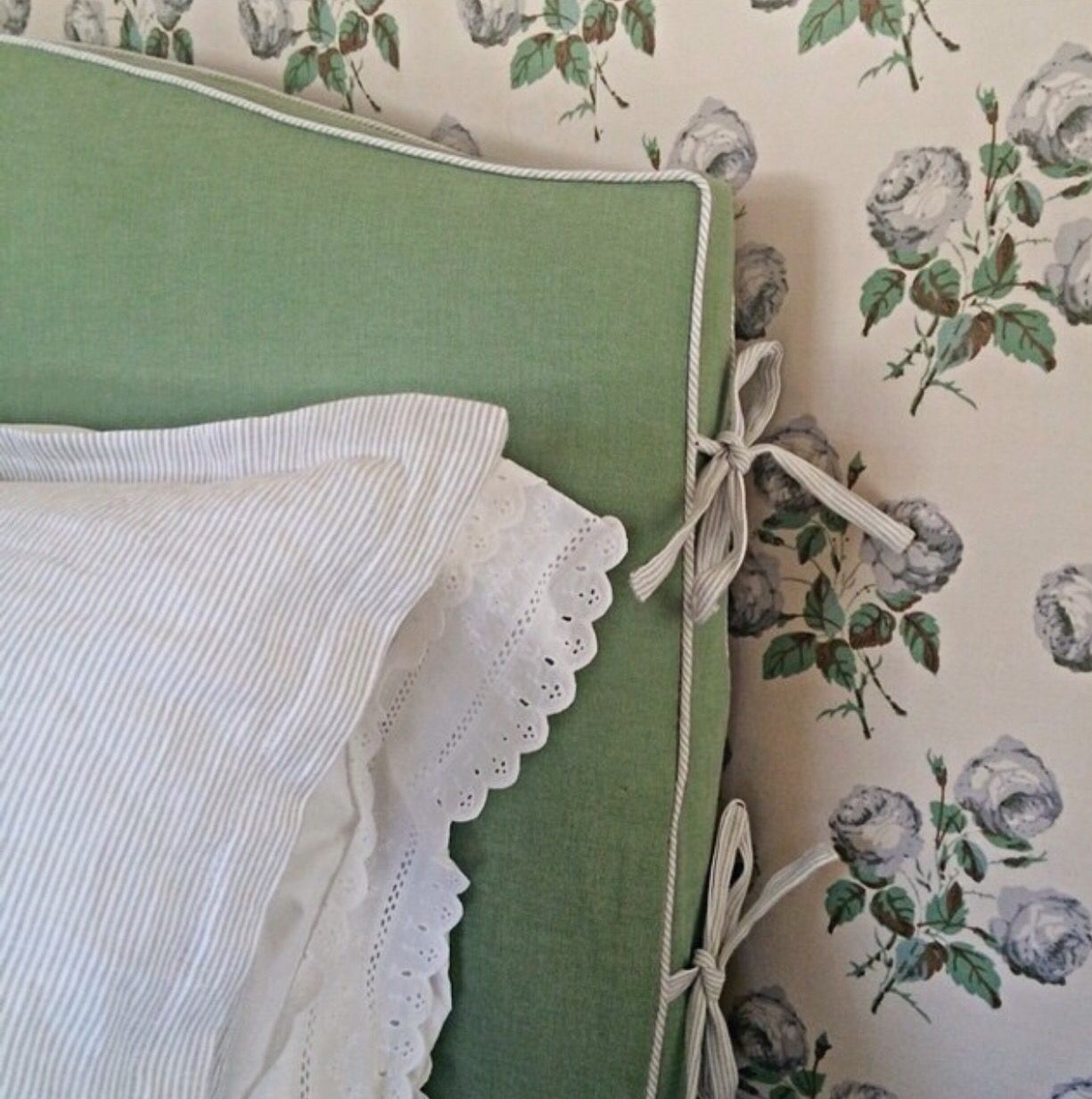 Gorgeous slip cover headboard with side ties headboards pinterest