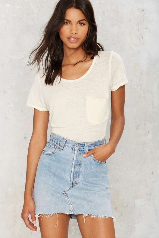 After Party Vintage Drifter Levi's Denim Skirt - The Bombers and ...