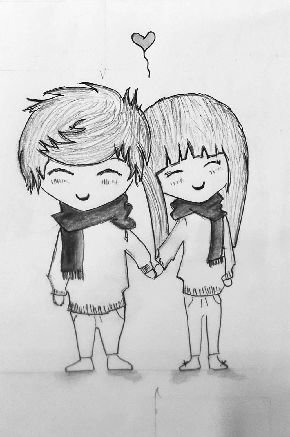Cute couple sketch gallery couple cute sketch drawings art gallery