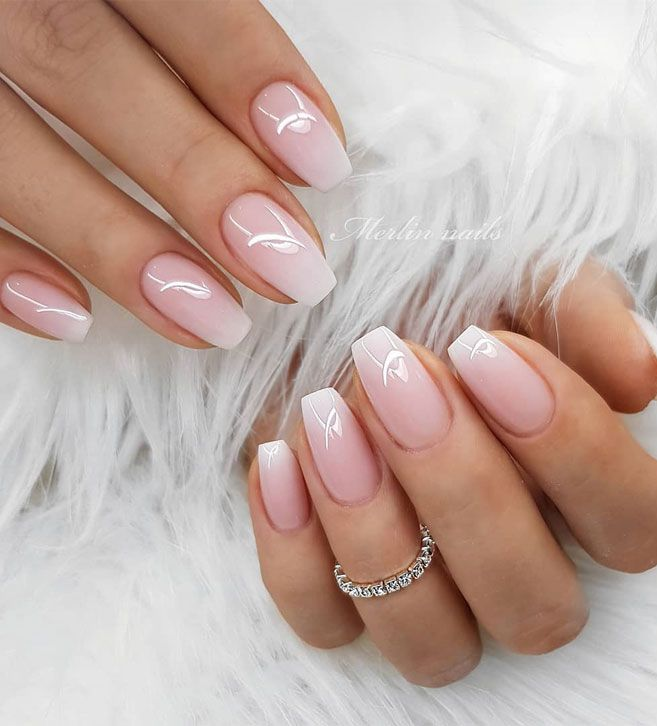 The Most Stunning Wedding Nail Art Designs For A Real Wow Cute Gel Nails Natural Gel Nails Ombre Nail Designs