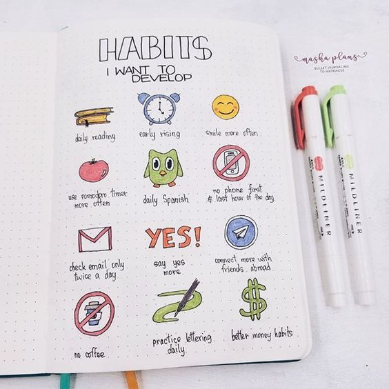 Bullet Journal Inspiration Layout Simple | 2020 Calendar Printable Template