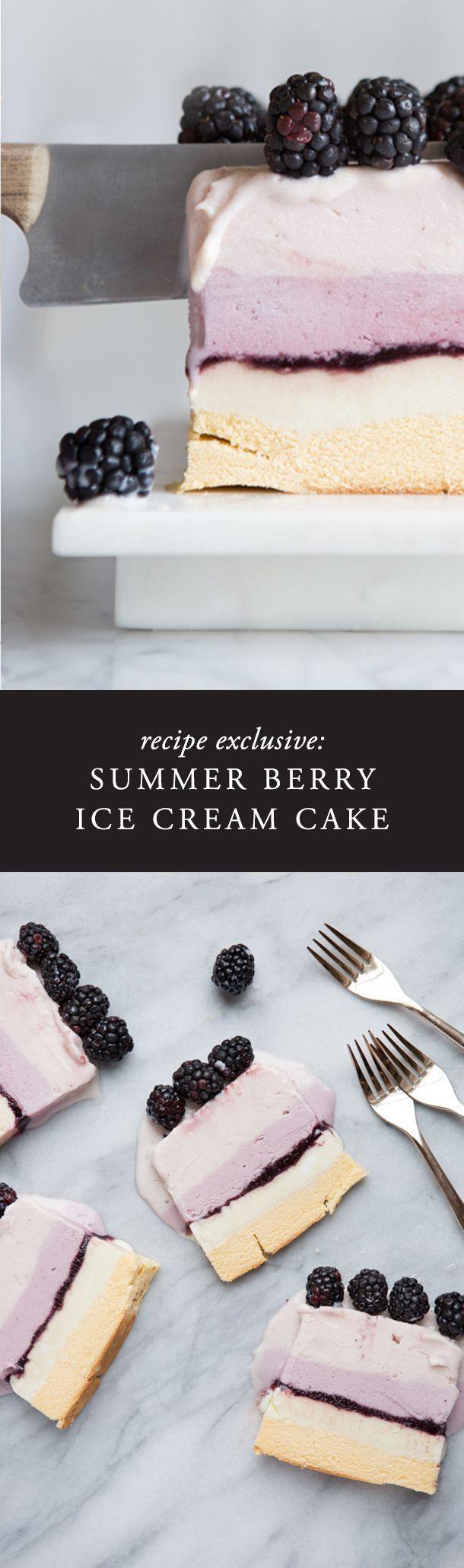 From Camille\'s Kitchen :: Summer Berry Ice Cream Cake | Cream cake ...