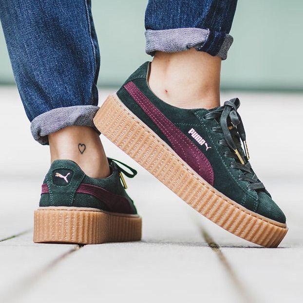 online retailer cbf6c f1489 Puma Shoes | Nib Puma Fenty Bordeaux Creeper 8.5 Green ...