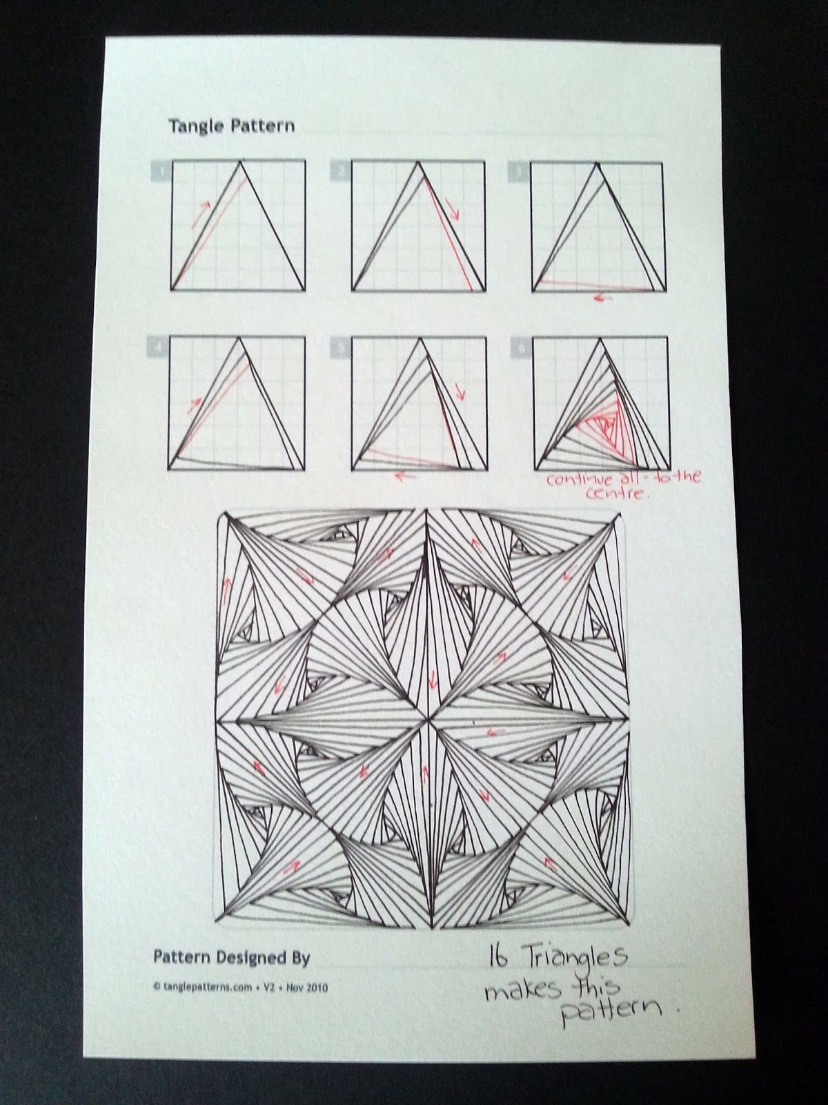 Judy\'s Zentangle Creations: Paradox Triangles. Much easier than the ...