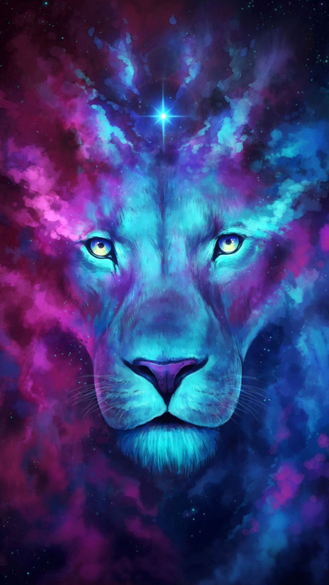 Galactic Lion Lion Painting Lion Wallpaper Wolf Wallpaper