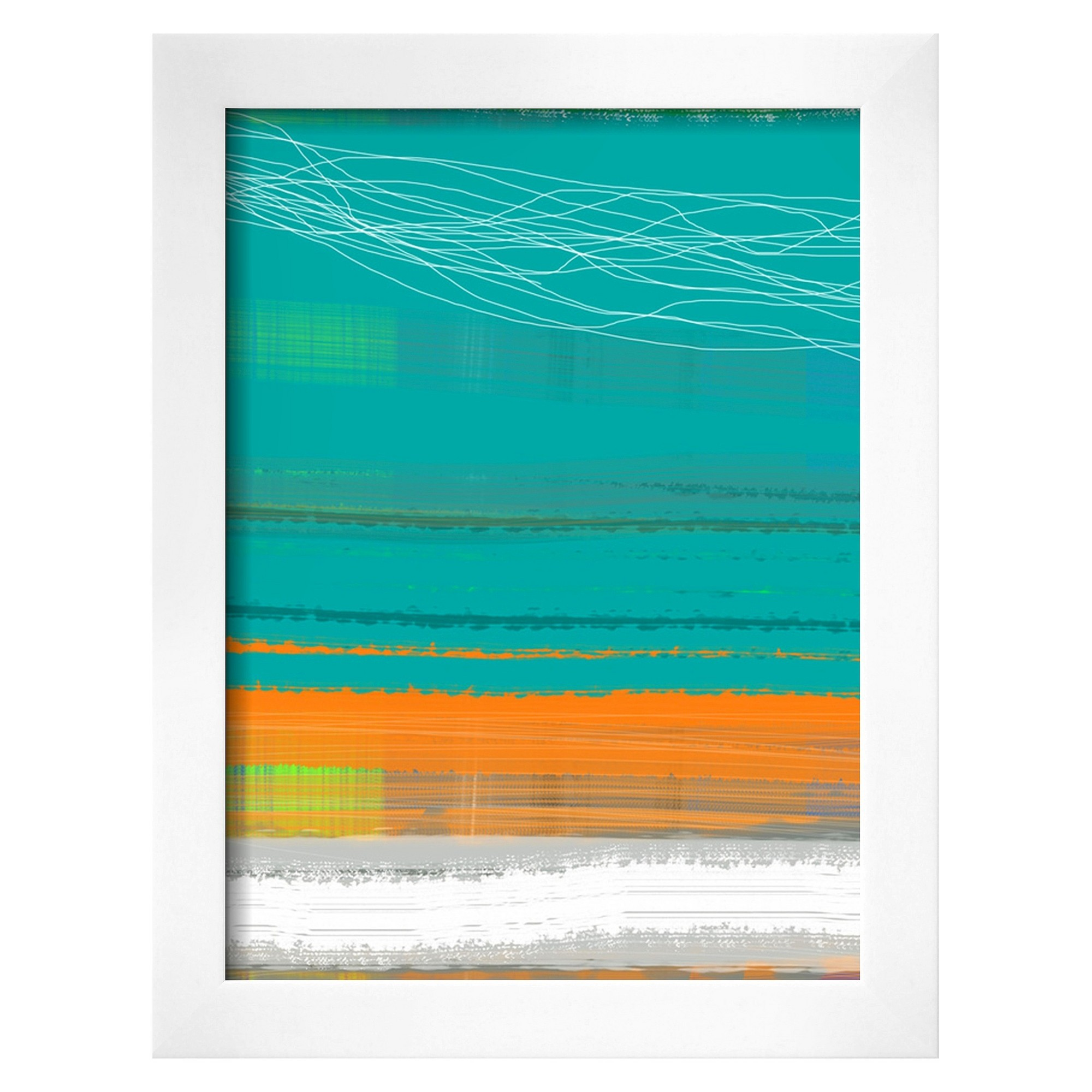 Art abstract orange stripe blue products