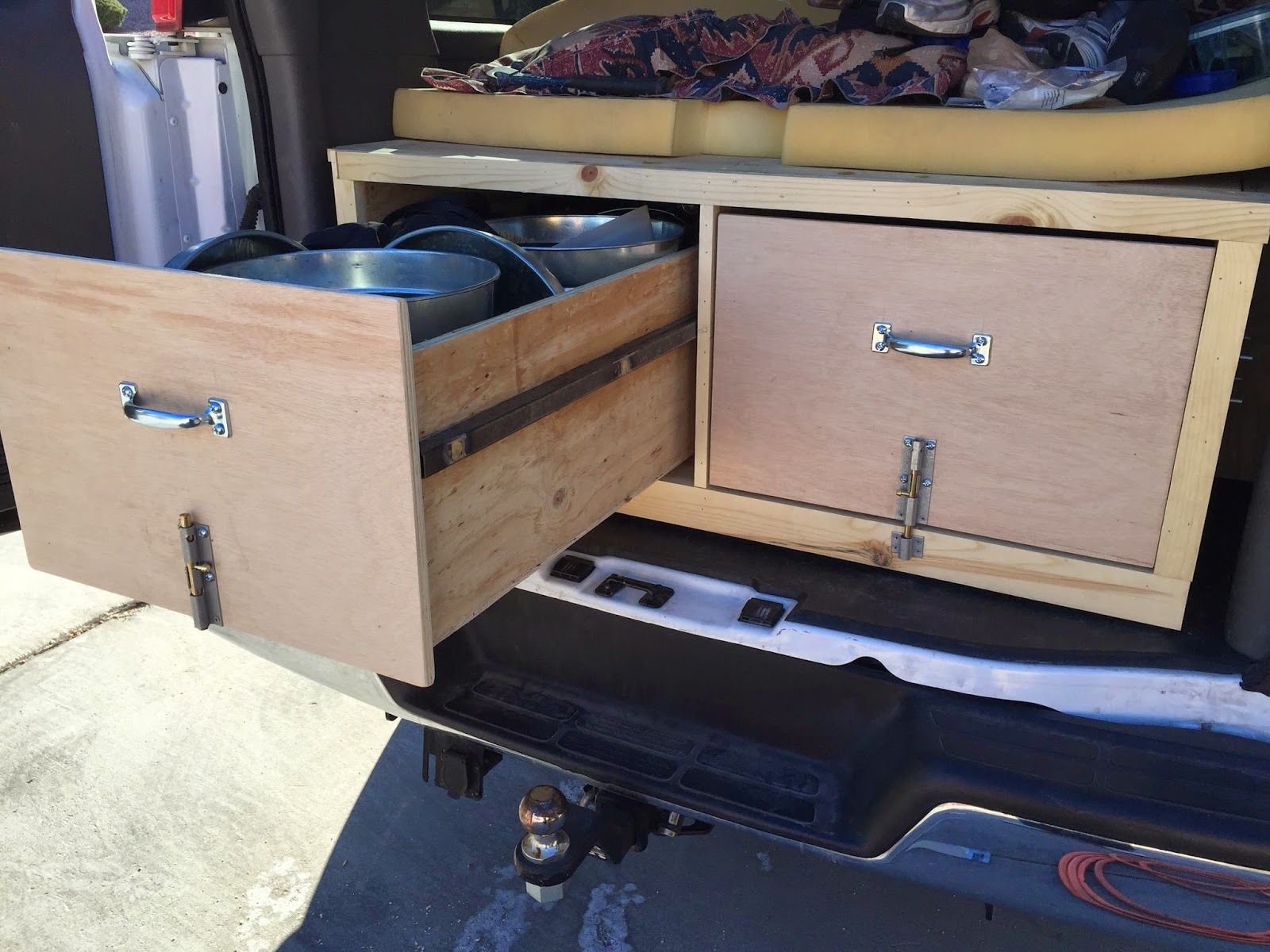TOPONAUTIC Outdoor News-Events-Recipes DIY Chevy Van Slide out Storage Drawers & TOPONAUTIC Outdoor News-Events-Recipes: DIY Chevy Van Slide out ...