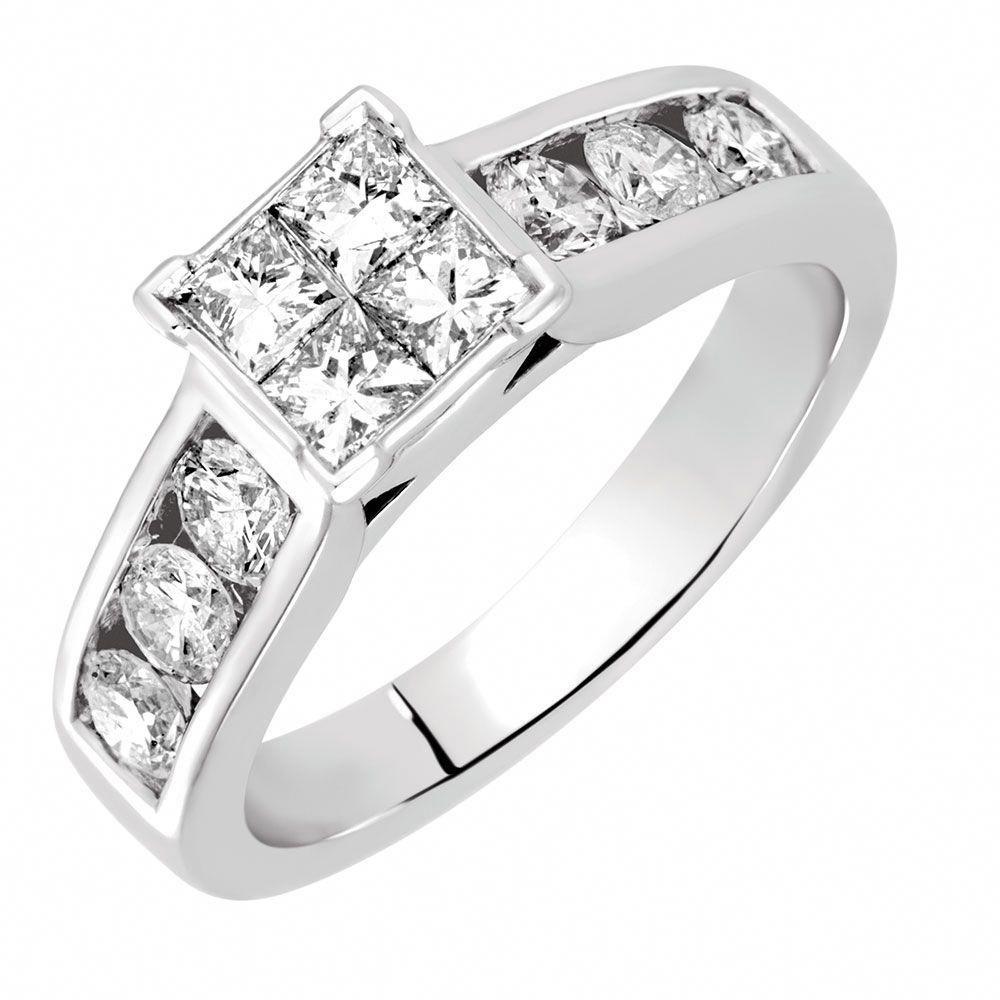 1 Carat TW Diamond Ring princessring Diamond engagement