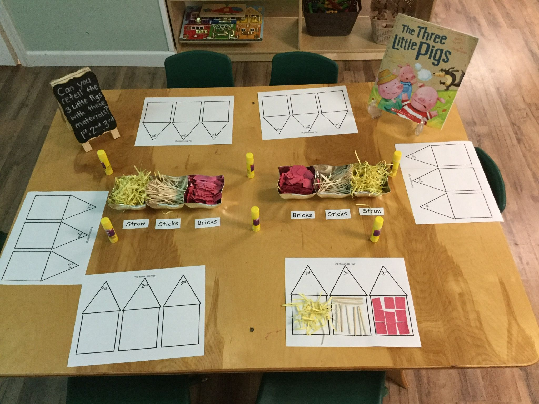 Create Homes For The Three Little Pigs Using Different
