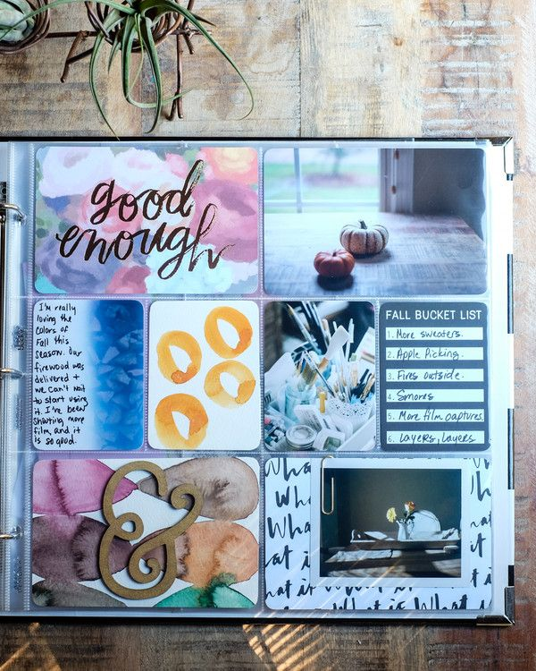 Fall Project Life Layout by azzari at @studio_calico