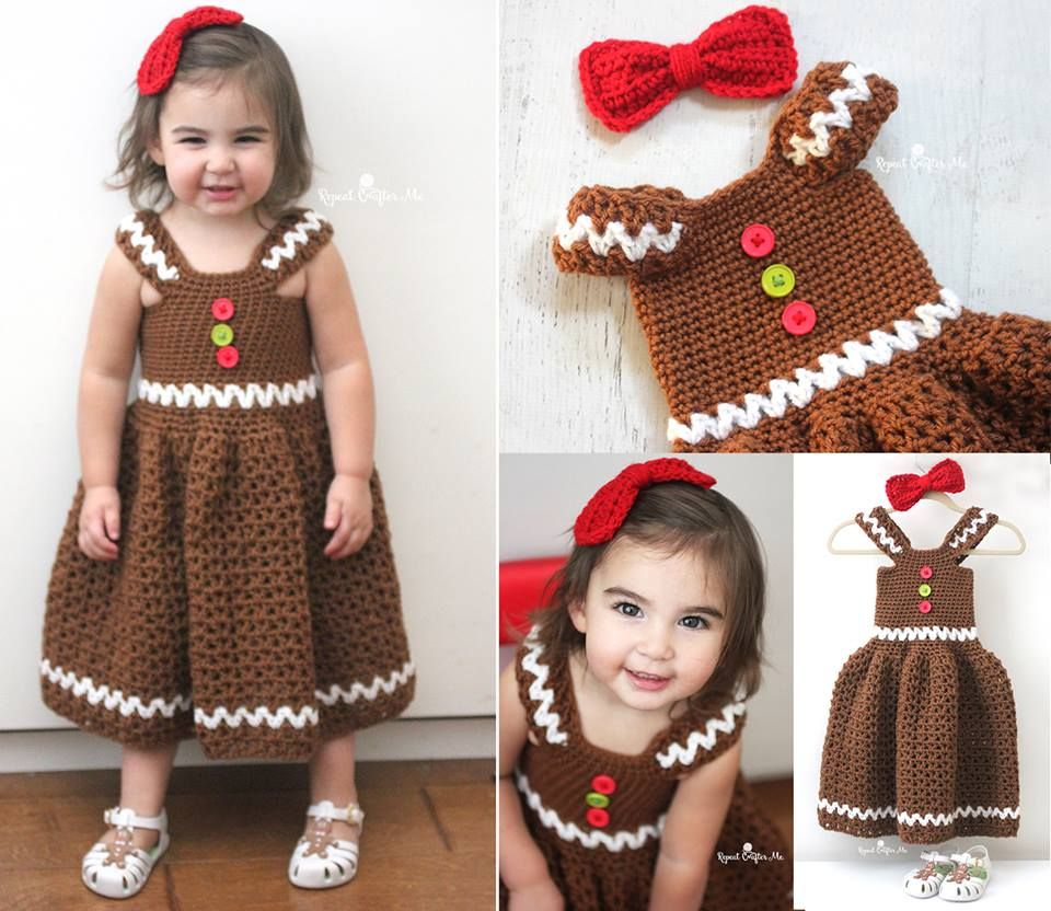 How cute is this adorable little gingerbread girl dress i love how cute is this adorable little gingerbread girl dress i love it and it crochet jumpercrochet babyfree crochetcrochet patternfree bankloansurffo Image collections