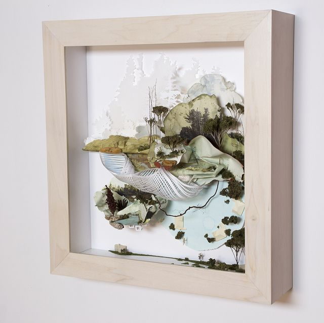 gregory euclide. diorama art from trash found in parks