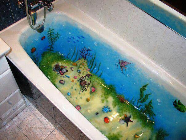 really cool idea for ocean bathtub