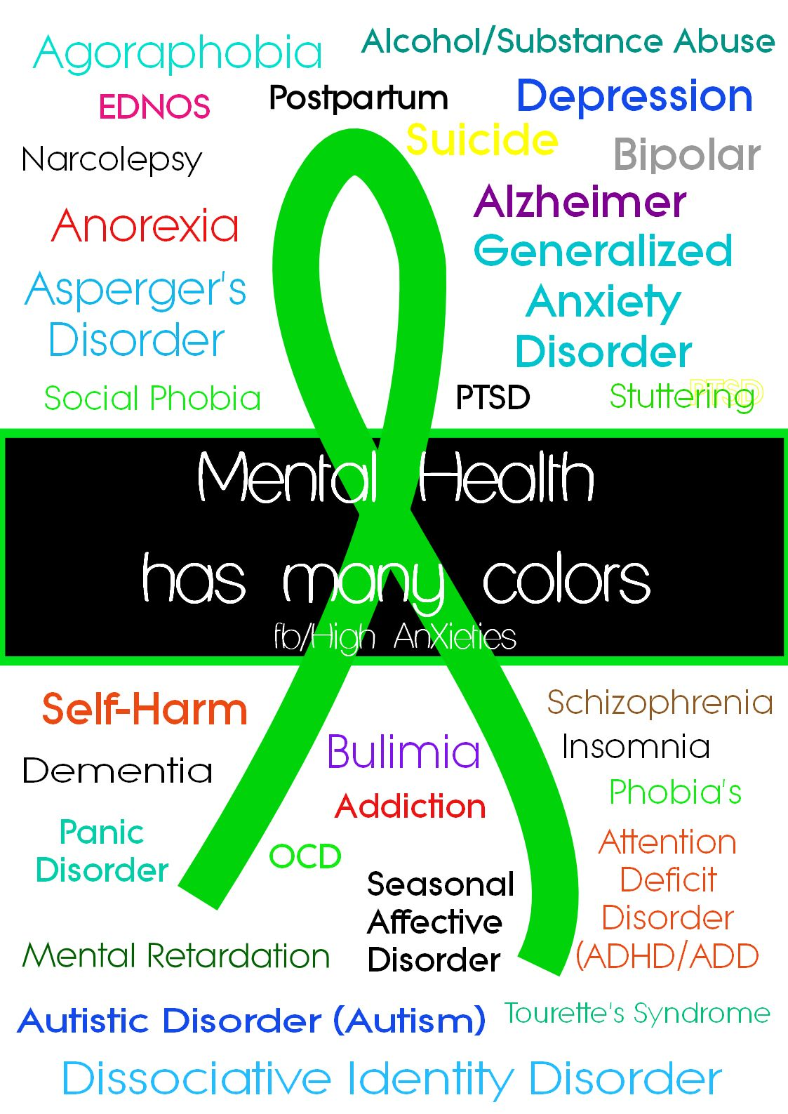 Colour therapy for hyperactivity - Color Therapy For Anxiety What Color Is Mental Illness Ribbon Google Search