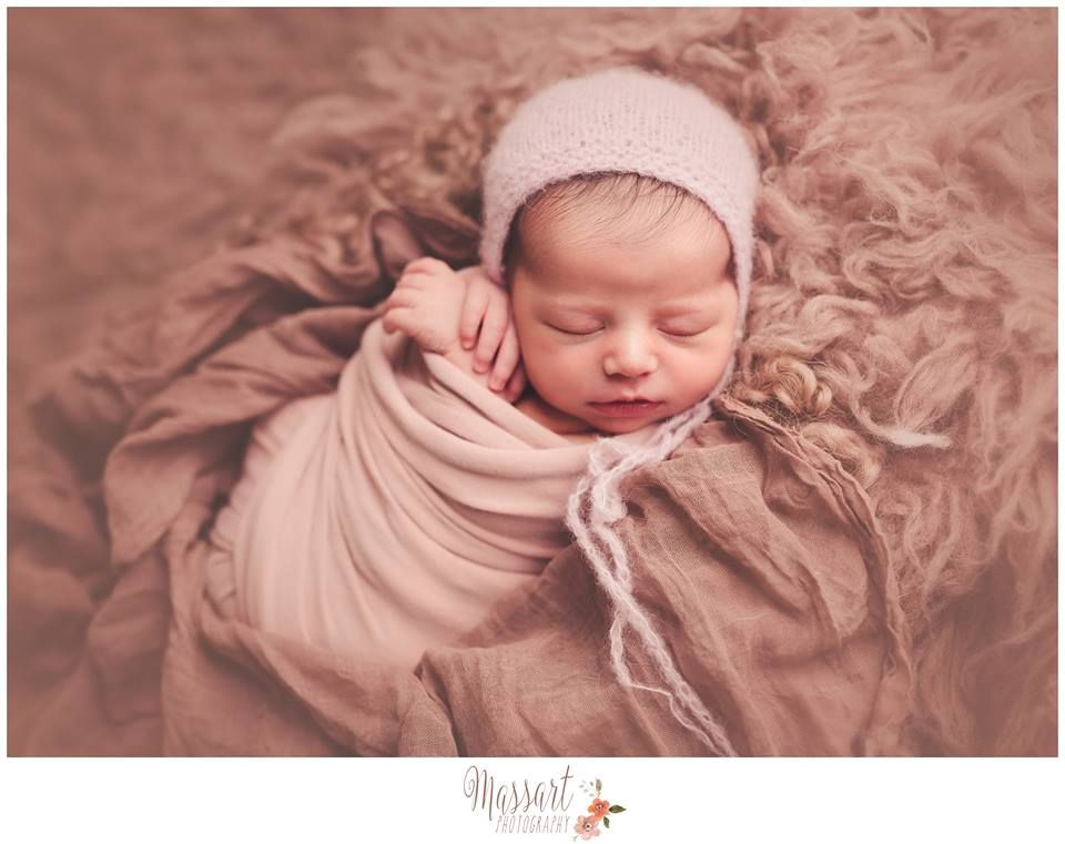 Classic and timeless neutral palette newborn session photographed by massart photography a rhode island newborn baby girl