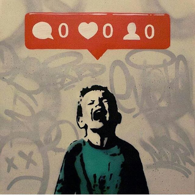Nobody likes me.  Done by @iheartstencils in Vancouver #graffitilegends #streetart #graffiti