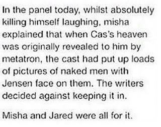 Hahahaha Meanwhile Misha