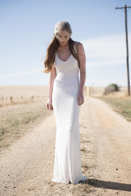 BHLDN Theia Caitlin Gown Size 8 Wedding Dress