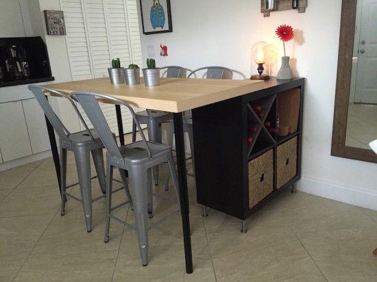 2 En 1 Ilot De Cuisine Ikea Et Table Pas Cher En Diy Ilot De Cuisine Ikea Ilot Cuisine Cuisine Ikea