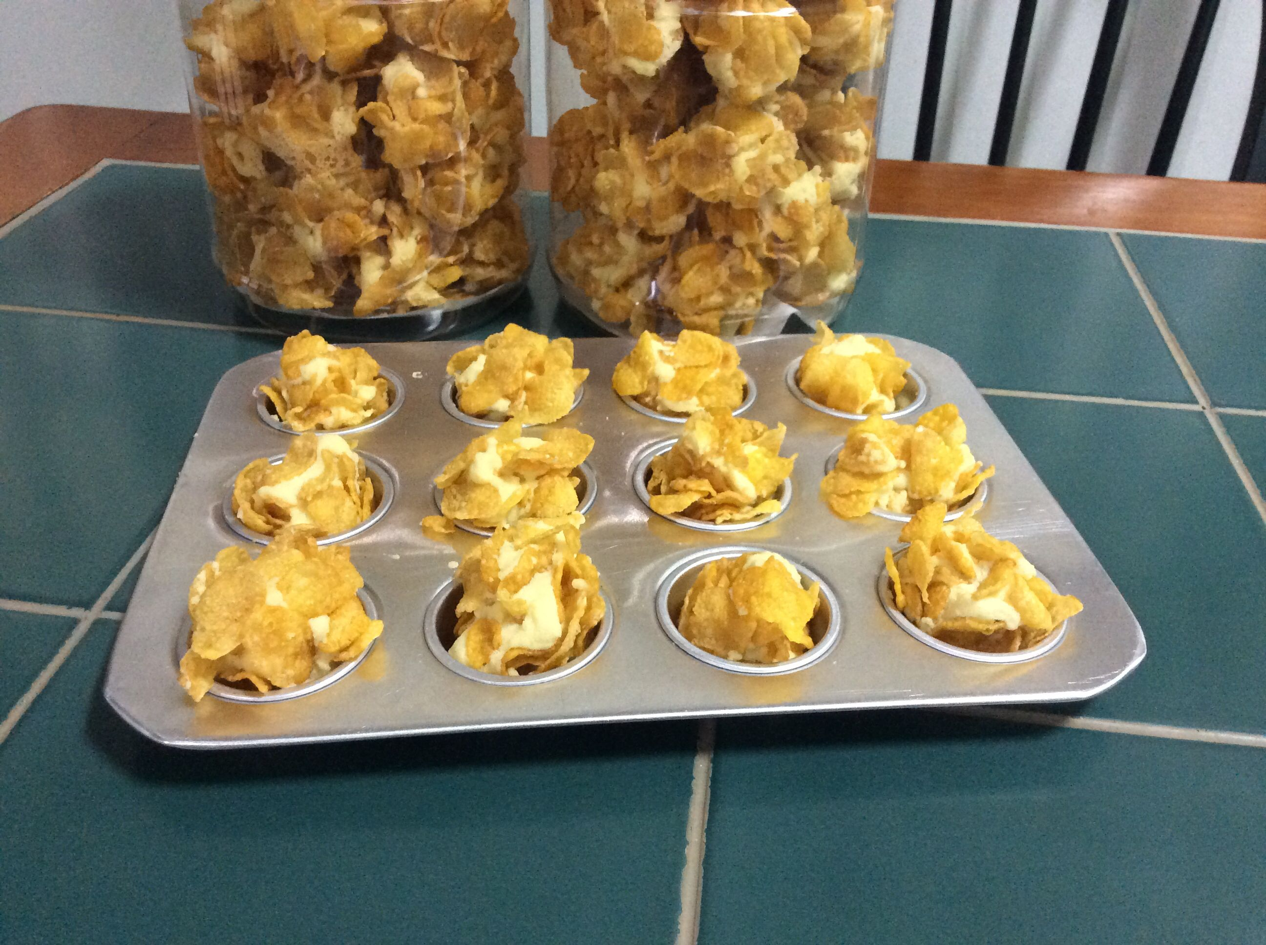 In The Process Of Making Cornflake Cookies Use My Aunties