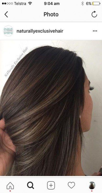 32 Ideas hair color balayage highlights ombre haircolor -   17 black hair Highlights ideas