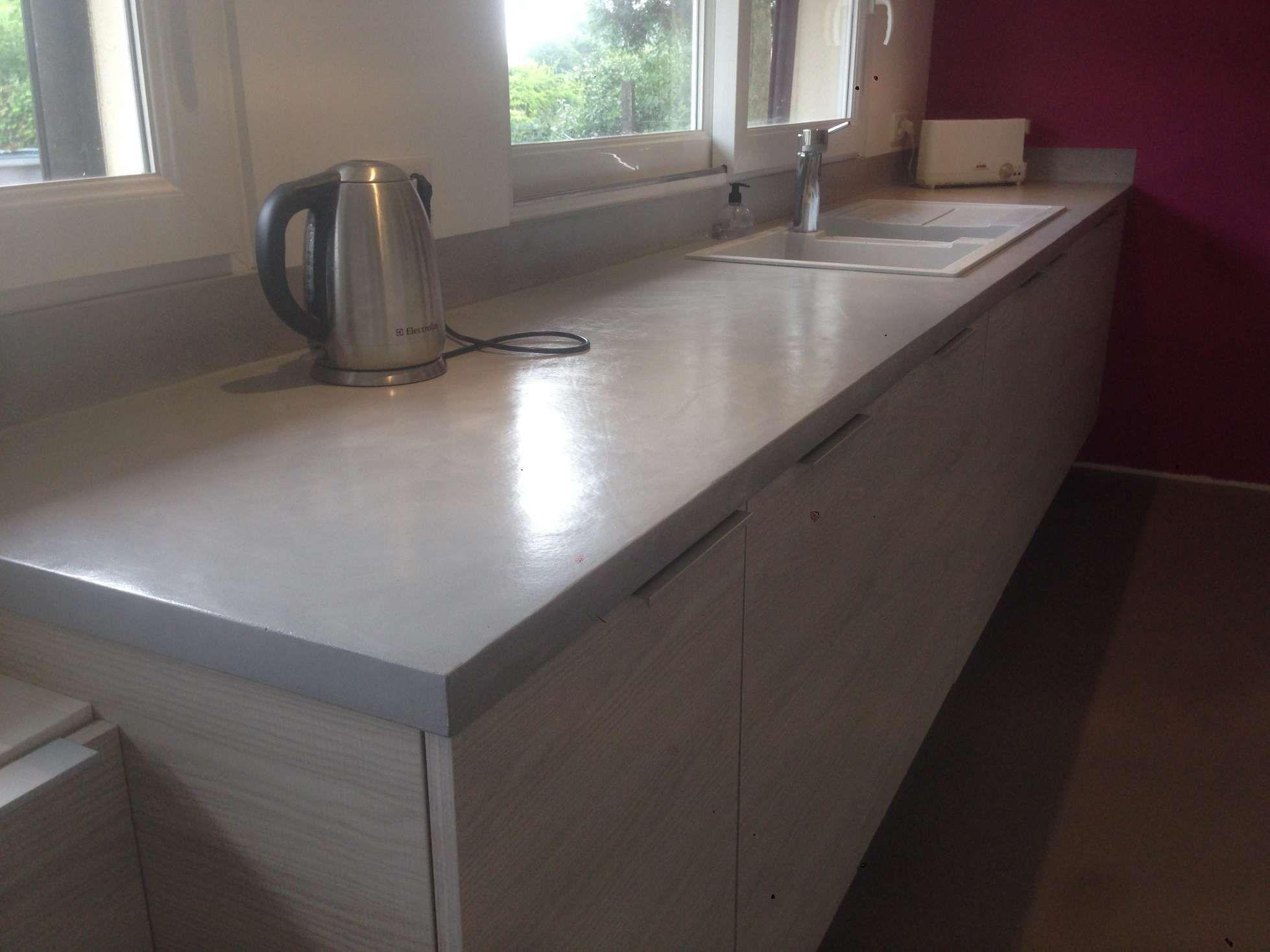16 Beton Cire Cuisine Plan Travail Kitchen Home Home Decor