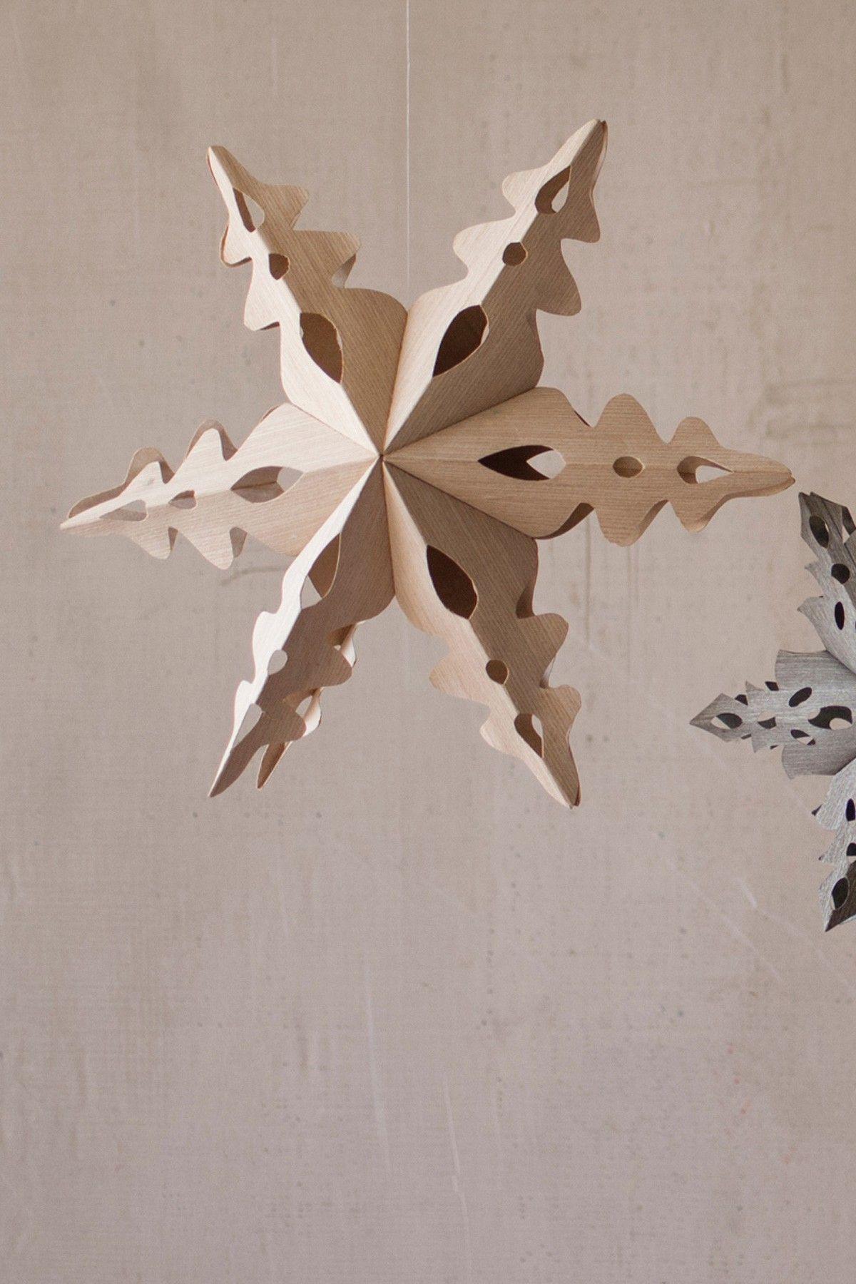 White Small Folding Wooden Hanging Star Falalalala Christmas