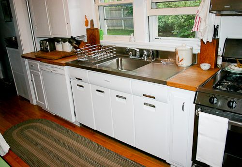 Joe replaces a vintage porcelain drainboard kitchen sink with a ...