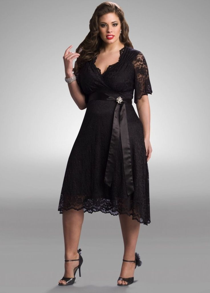 Get Glamorous And Chic Black Dresses For Plus Size Women Plus Size