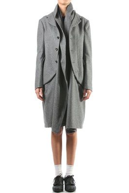coat with jacket like front