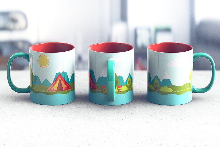 Full Wrap Mug Mockup Free Mockup Mug Template Mugs
