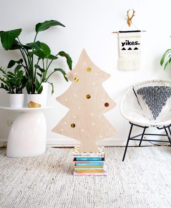 Weihnachtsbaum Basteln Holz Natürlich Frisch | Weihnachtsbasteln