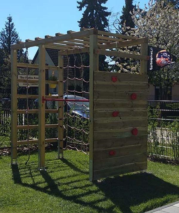 Klettergerust Holz Mit Kletterwand Premium Diy Spielplatz Kinder Klettergerust Kletterwand