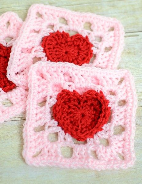 Heart Granny Square Crochet Pattern | Pinterest | Häkeln