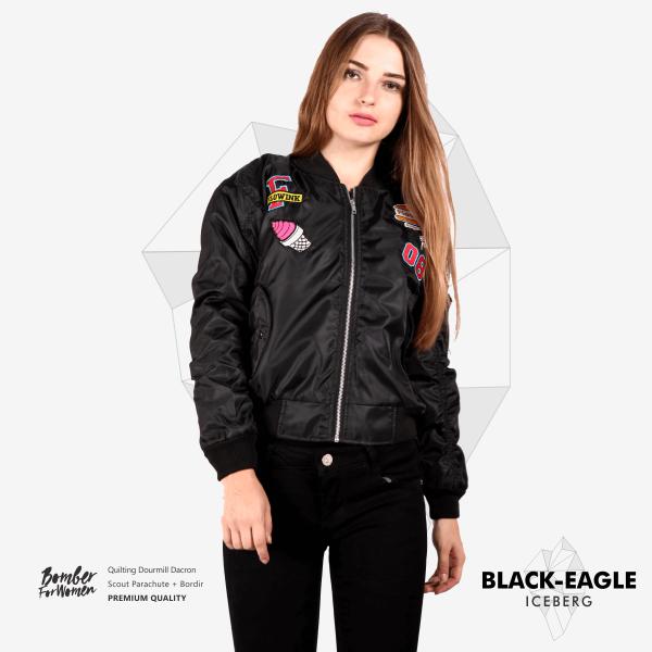Black Eagle Iceberg Jaket bomber, Jaket, Wanita